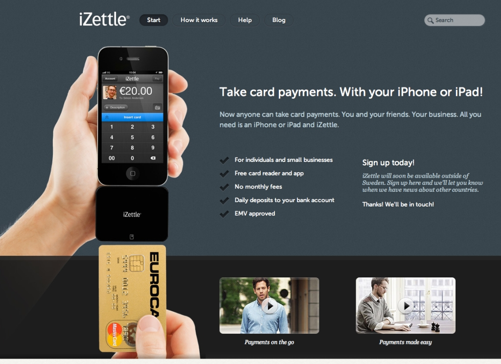 iZettle card payment system