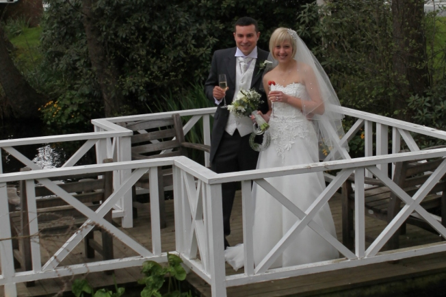 Helen and Eduardo at The Cottons Hotel in Knutsford
